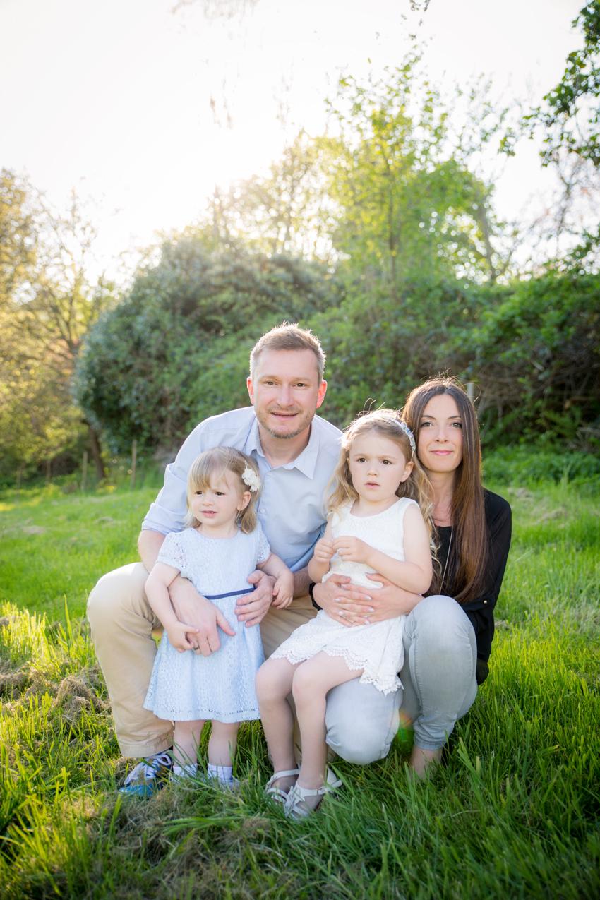 Familienfoto Outdoor