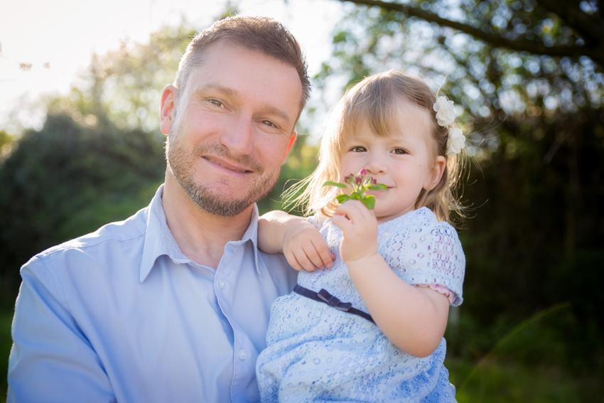 Vater und Tochter Fotoshooting