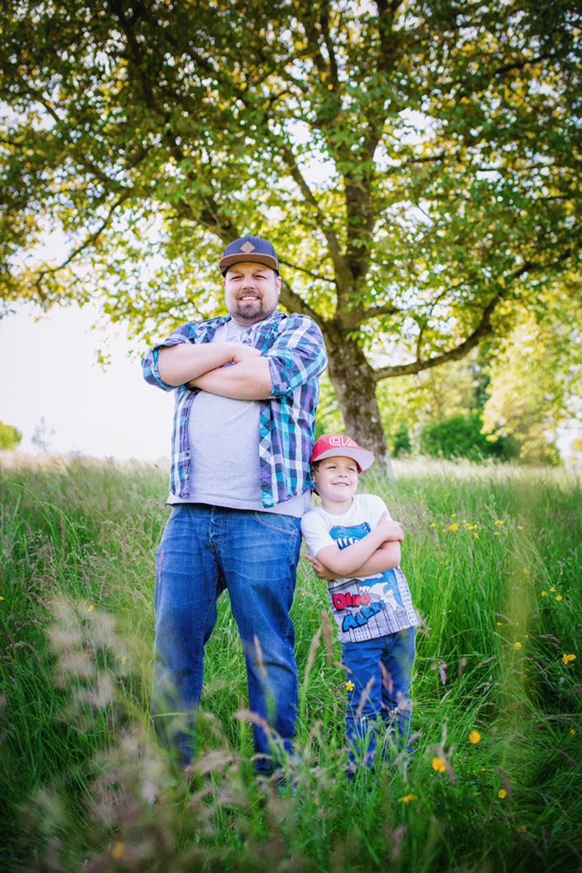 Vater und Sohn Familienfoto Loerrach