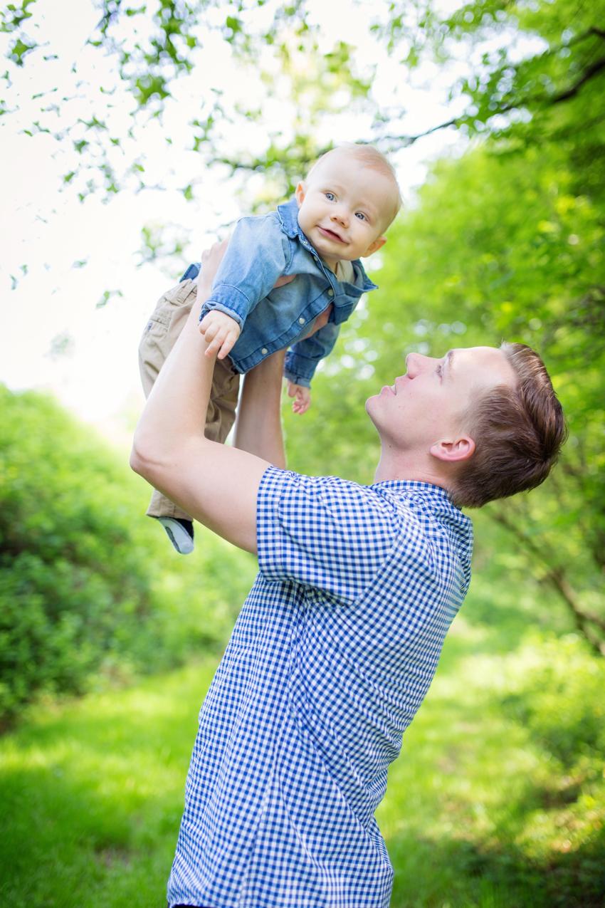 Papa und Sohn am Hertner Loch