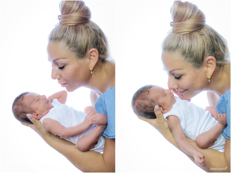Mama und Sohn beim Babyshooting