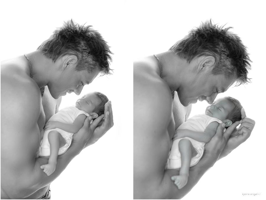 Papa und Sohn Fotoshooting
